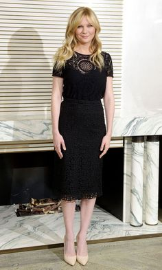 Look of the Day - Kirsten Dunst In Burberry from InStyle.com
