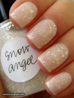 Sparkle Bridesmaid Nails  I love this for even everyday!