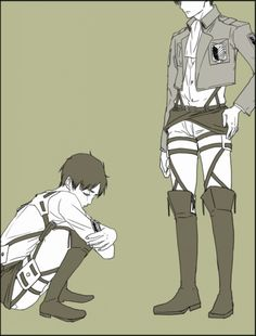 (Levi) Oi, Eren stop crying it's not your fault, it's going to be alright. (Eren) sob~Heichou~sob (What I think they should say.)