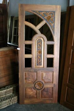 Door Gate Design, Wooden Doors Interior, Wooden Main Door Design, Wooden Front Doors, Door Glass Design, Wooden Door Design