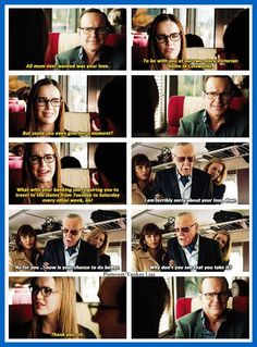 I loved this because she stared yelling at him under cover for doing bad things and everyone on the train stared yell at him too! He was like what the heck!!!