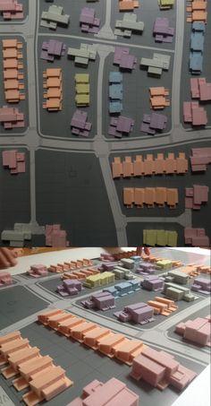 Urbanistický model rodinné domy 1:500   Urban model of family houses #3dprinting #3dtlac #urbanism #urban #house #miniatur