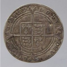 Edward VI AR Sixpence 1547-1553AD - House of Tudor 1485-1603AD - Medieval
