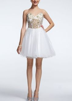 Strapless Illusion Corset Bodice Ball Gown - David's Bridal