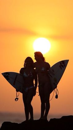The Fetchies as Surfer Girls.....YAAAS // Girls surfing... Surf girl... Sunset...