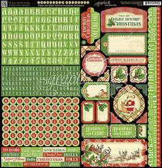 Graphic45 'TWAS THE NIGHT BEFORE CHRISTMAS 12x12 Sticker Sheet **RETIRED**