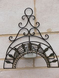 FRENCH STYLE Garden HOSE RACK HOLDER Wrought Iron NEW