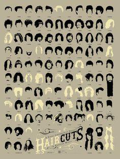 Los peinados rockeros más famosos de la historia del rock #infografia #peinados #cabello