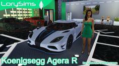 Koenigsegg Agera R at LorySims via Sims 4 Updates