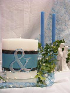 Hochzeitskerze*DU&ICH*inkl.Beschriftung von WACHSLÄDLE auf DaWanda.com