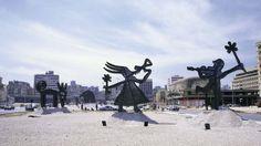 Nadim Karam's 'Untitled' (1997-2000) sculptures in downtown Beirut