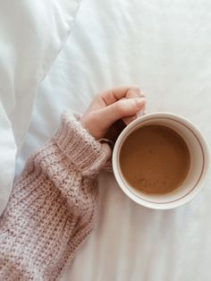 Coffee + cozy sweaters.