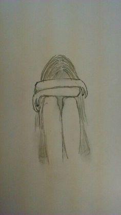 New Drawing Pencil Sad Art 18 Ideas Easy Pencil Drawings, Easy Doodles Drawings, Pencil Sketch Drawing, Sad Drawings, Art Drawings Sketches, Drawing Ideas, Drawing Art, Drawing Poses, Easy Drawings Of Girls
