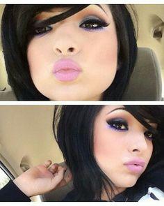 Her make up! N her hair cut