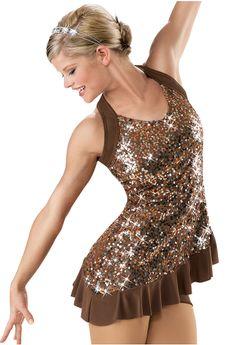 Sequin Twist Back Dance Tunic; Weissman Costumes