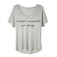 T-shirt Collect MOMENTS NOT THINGS