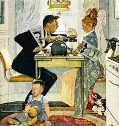 The late Norman Rockwell. Norman Rockwell painting Norman Rockwell - I love his artwork! The Obvious Choice- Norman Rockwell Norman Rockwell Prints, Norman Rockwell Paintings, Painting Prints, Canvas Prints, Art Prints, Oil Paintings, Peintures Norman Rockwell, Tableaux Vivants, Retro