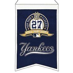 New York Yankees Embroidered Wool 27-Time World Series Champions Traditions Banner