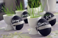 Just So Lovely: Chalkboard Easter Egg Place Cards
