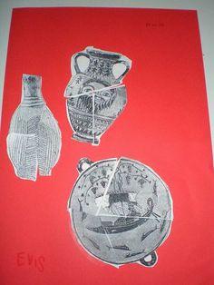 παιχνιδοκαμώματα στου νηπ/γειου τα δρώμενα: βρέθηκαν αρχαία στο νηπιαγωγείο μας ??? Ancient Greece, Greek Mythology, Archaeology, Art Projects, Museum, Education, School, Drawings, Blog