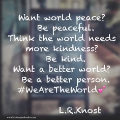We are the world www.littleheartsbooks.com