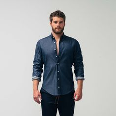 The WSw Everyday Shirt is the perfect transition from urban living to bonfire! Soft and textured in garment washed Japanese Denim, the Everyday Shirt deconstructs the classic button down shirt equipping you with a relaxed, yet tailored fit. The WSw Everyday Shirt is the definition of a winter essential.