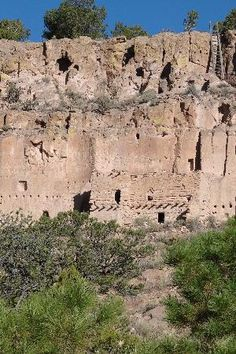 Puye Cliff Dwellings - north of Santa Fe