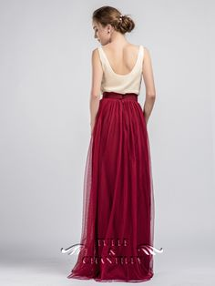 Marsala Tulle Skirt for Bridesmaids 2