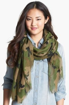 Roffe Accessories Camo Scarf | Nordstrom