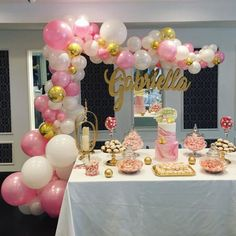 Birthday Party Dcoration Diy For Women 45 Ideas Birthday Gift For Wife, Little Girl Birthday, Birthday Woman, Birthday Diy, Birthday Parties, Birthday Ideas, Women Birthday, Birthday Balloon Decorations, Fiesta Decorations