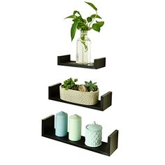 Welland U Shape Display Shelf Set 3 Espresso Wellpro 1169...