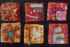 Fabric inchies by Createarian, via Flickr