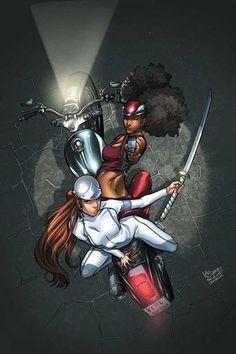 Misty Knight and Colleen Wing, marvel Luke Cage, Female Superhero, Superhero Movies, Boris Vallejo, Marvel Girls, Marvel Heroes, Marvel 3, Comics Girls, Dc Comics