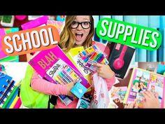 Back To School Supplies Haul + DIY School Supplies! Alisha Marie - YouTube