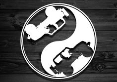 Jeep Yin Yang Vinyl Decal by Strange Motion 4x4.