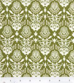Quilter's Showcase Fabric-Green Fall Damask: keepsake calico fabric: quilting fabric & kits: fabric: Shop | Joann.com