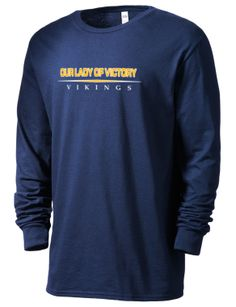 77ec44cb3 Our Lady Of Victory School Vikings SofSpun™ Men's 4.7oz Cotton Long Sleeve  T-Shirt