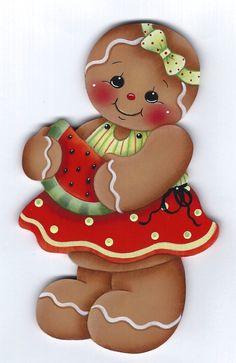 Watermelon Slice Gingerbread Painting by GingerbreadCuties