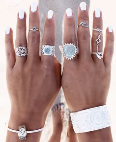 Silver Transparent stacking Jewelry