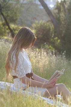 reading in the meadow::