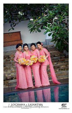 102 best sri lankan bridesmaids images in 2018 Bridesmaid Saree, Coral Bridesmaid Dresses, Bridesmaid Colours, Brides And Bridesmaids, Bridesmade Dresses, Wedding Dresses, Saree Wedding, Punjabi Wedding, Sumo