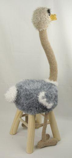 Dieren kruk struisvogel