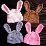 Just added to the site are these Adorable Baby Bunny Hats. #Crochet them for your little one to wear for Easter. They also make great photo props.