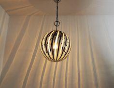 Murano Black and White Glass Globe Pendant Light, 1970s 6