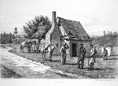 Slave house or cabin, U.S. South, 1862-65