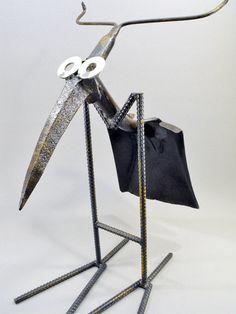 Welded Metal Folk Junk Art J Bird Shovel by OurUniquePerspective, $70.00.  Find us at www.facebook.com/OurUniquePerspective for more art!