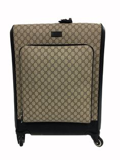 Gucci Monogram International Carry-on Luggage Beige / Black Travel Bag