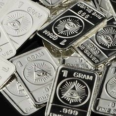Lot of 10 Rare All Seeing Eye Big Brother 1984 Pure Silver Kennedy Half Dollar, All Seeing Eye, Vietnam Veterans Memorial, Silver Eagles, Silver Bars, Gold Coins, Silver Rounds, Pure Products, Things To Sell