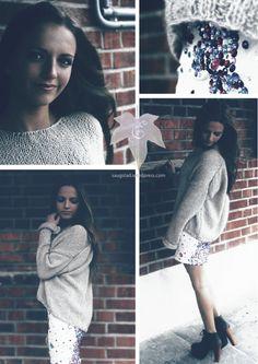 Diamond skirt and knittet sweater  saugstad.wordpress.com