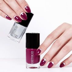 CATRICE Ultimate Nail Lacquer 95 For Some It's Plum. Longlasting nail polish with perfect coverageand high shine finish.
